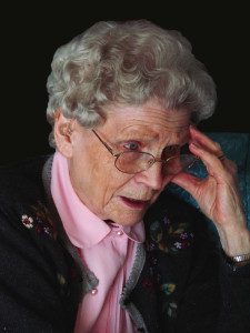 Wisdom or worry? Photo of a Lady who looks Worried about Physical problems in Aging