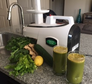 Photo: Juicing with a Green Star Juicer